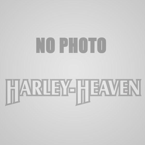Harley-Heaven White Bar & Shield Black Long Sleeve Pullover